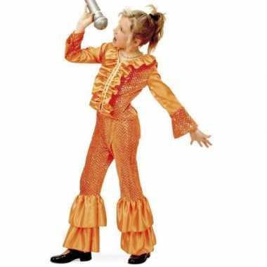 Disco carnavalpak voor meisjes oranje