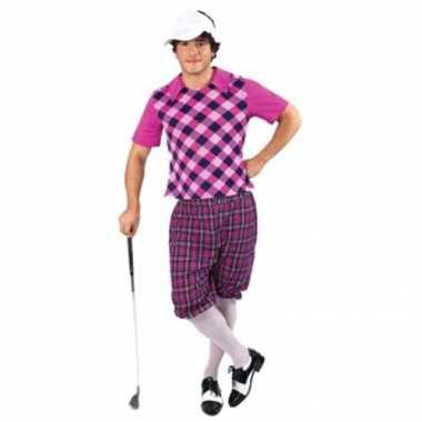 Drie delig golf carnavalpak voor heren
