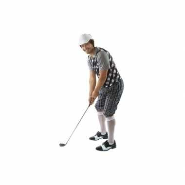 Drie delig golf carnavalpak zwart voor heren