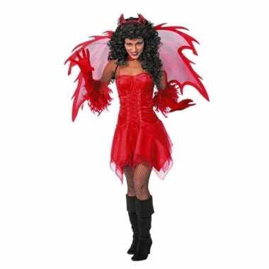 Duivel carnavalpak jurkje volw