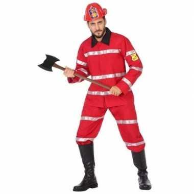 Feest/carnaval brandweermannen verkleedcarnavalpak voor heren
