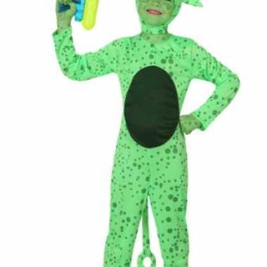 Groen alien carnavalpak kinderen