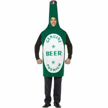 Groen bierflesje carnavalpak