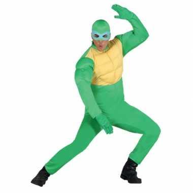 Groene ninja carnavalpak voor heren