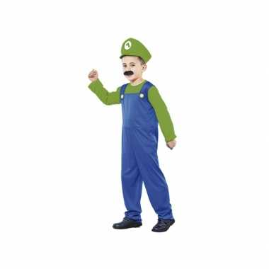 Groene Super Loodgieter carnavalpak kids