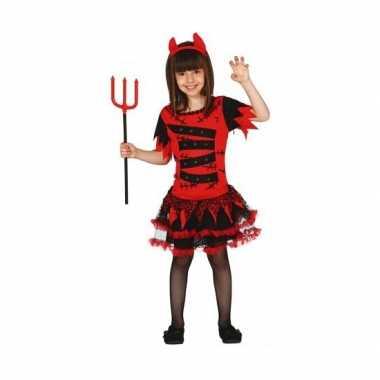 Halloween carnavalpak duivel voor meisjes