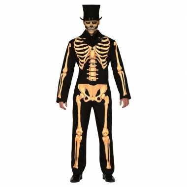 Halloween carnavalpak met geraamte voor heren