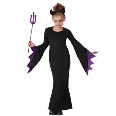 Halloween carnavalpak zwarte duivel voor kids
