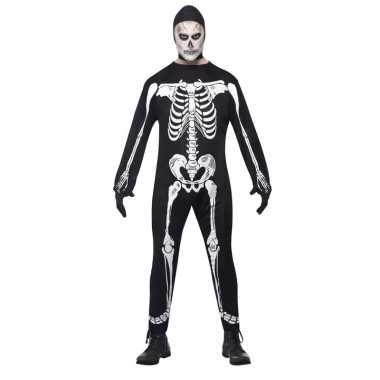 Halloween skelet carnavalpak voor volwassenen