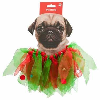 Huisdieren kerstcarnavalpak kerstelf pakje voor honden