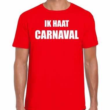 Ik haat carnaval verkleed t shirt / carnavalpak rood voor heren