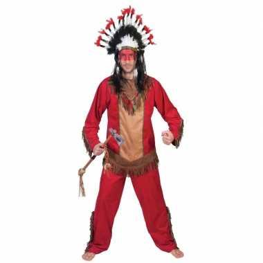 Indiaan lootah carnavalpak voor heren