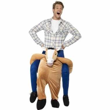 Instap dierenpak carnavalpak paard voor volwassenen
