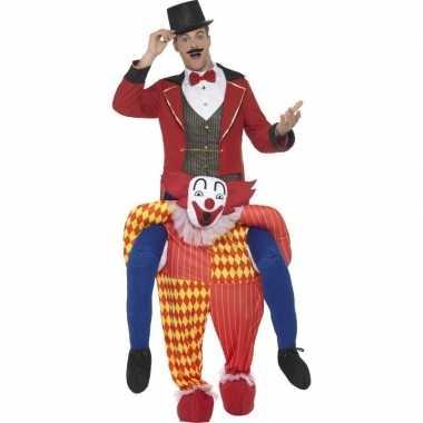 Instapcarnavalpak circus clown voor volwassenen