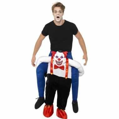 Instapcarnavalpak enge horror clown voor volwassenen