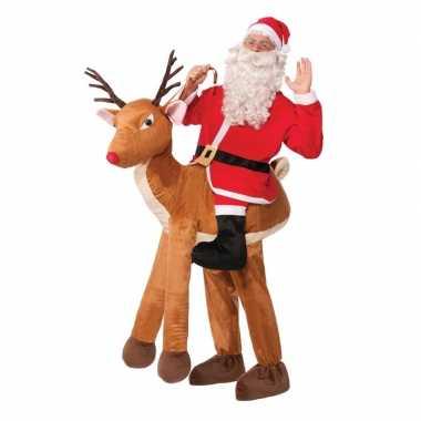 Instapcarnavalpak kerstman op rudolf voor volwassenen