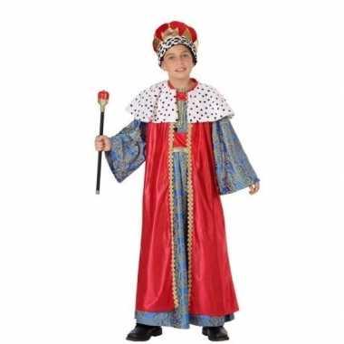 Kerst carnavalpak melchior voor jongens