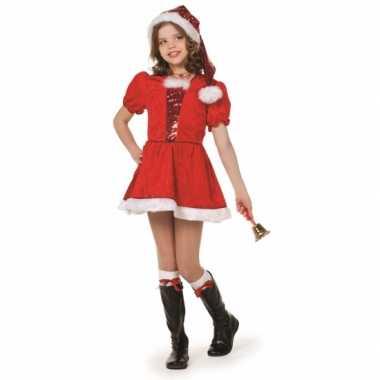 Kerst meisjes carnavalpak deluxe