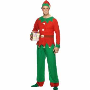 Kerstelf carnavalpak voor volwassenen