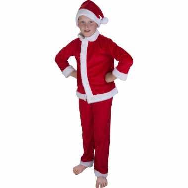 Kerstman verkleed carnavalpak met muts voor kinderen