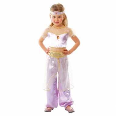 Kindercarnavalpak paars Arabische prinses