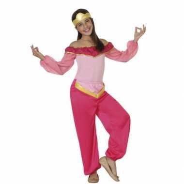 Kindercarnavalpak roze arabische prinses