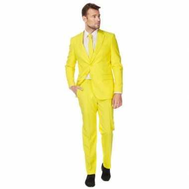 Luxe carnavalpak voor heren geel