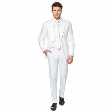 Luxe carnavalpak voor heren wit