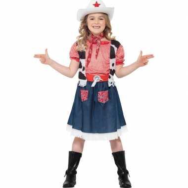 Meisjes carnavalpak cowgirl