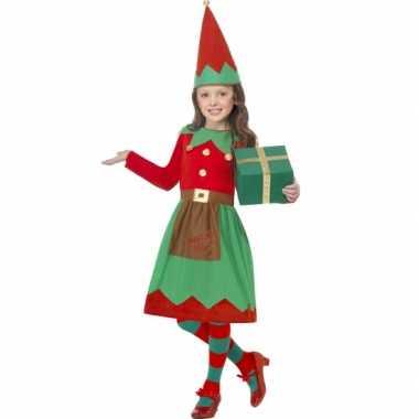 Meisjes kerstelf carnavalpak