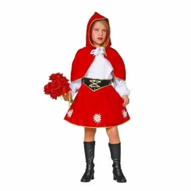 Meisjes Roodkapje carnavalpak