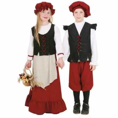 Middeleeuws boerin carnavalpak voor meisjes