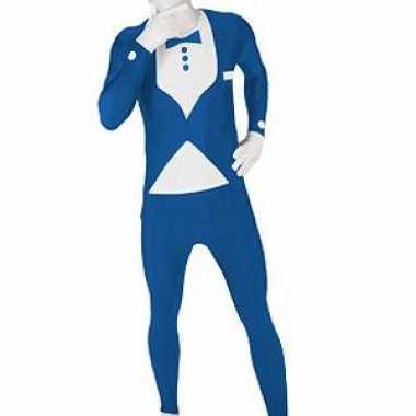 Morphsuit carnavalpak blauw pak
