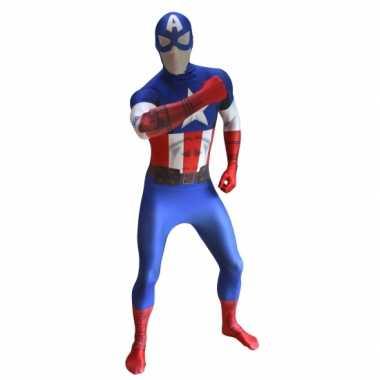 Morphsuit carnavalpak captain america