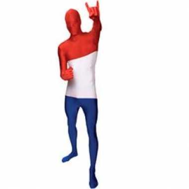 Morphsuit carnavalpak Nederlandse vlag