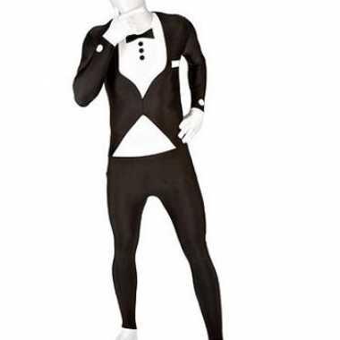 Morphsuit carnavalpak net pak zwart