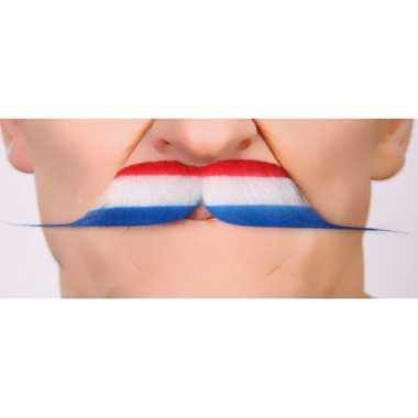 Nederlandse vlag carnavalpak accessoire snor
