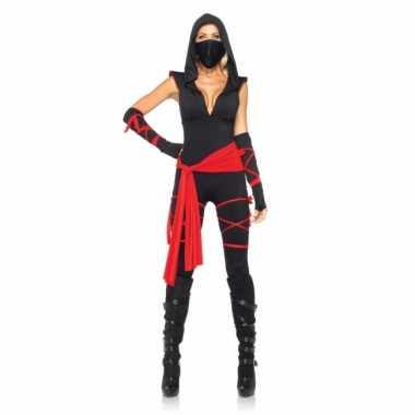 Ninja dames carnavalpak 5 delig