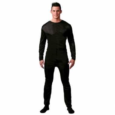 Ondercarnavalpak verkleed suit zwart voor mannen