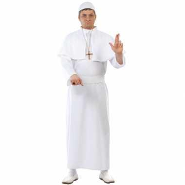 Paus carnavalpak volwassenen wit