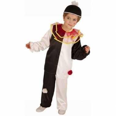 Pierrot clown carnavalpak voor kinderen