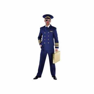 Piloten carnavalpak blauw heren