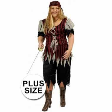Piraten carnavalpak grote maat voor dames