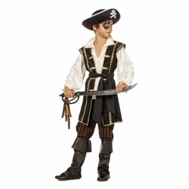 Pirates of the Caribbean bruin carnavalpak voor jongens