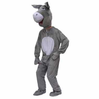 Pluche ezel carnavalpaks volwassenen