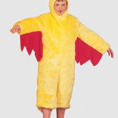 Pluche kippen carnavalpak voor kinderen