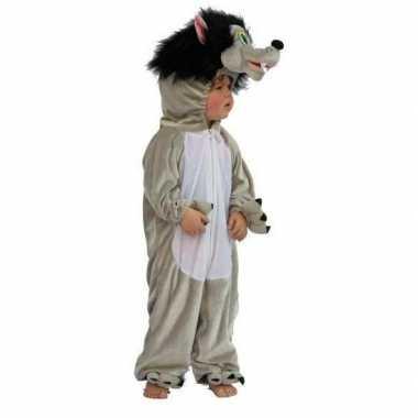 Pluche wolf carnavalpak voor kinderen