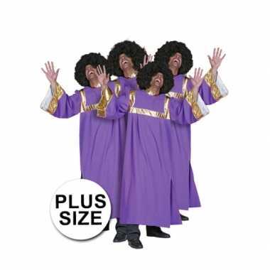 Plus size gospel koor carnavalpak