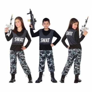 Politie swat verkleed pak/carnavalpak voor kinderen