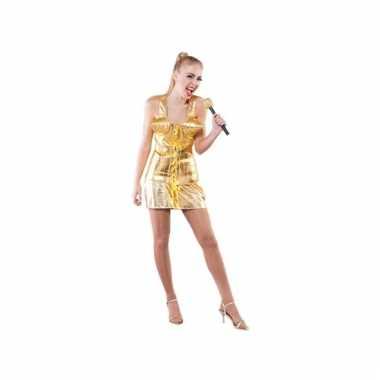Popsterren carnavalpak goud voor dames